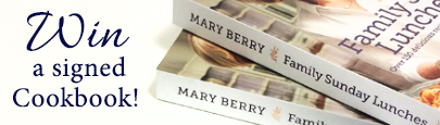 Mary Berry's Signed Cook Book Giveaway